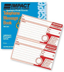 Telephone Message Telephone Message Impact Tm342 Skout Office Supplies