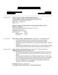 Sample Library Resume Media Librarian Page Sevte
