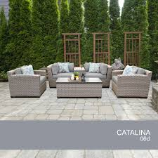 Catalina 6 Piece Outdoor Wicker Patio Furniture Set 06d