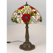 luxury handmade tiffany poppy stained glass lighting collection of pendants and table lamps red