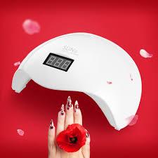Sun5x Uv Led Lamp 48 W Nail Droger Lamp Voor Drogen Nagels Dubbele Licht Auto Sensor Met Lcd Scherm Knop Timer Manicure Machine Uvled