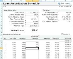 Mortgage Loan Amortization Excel Spreadsheet Student Payment