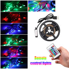 Cut To Length Led Lights Amazon Com Galapara Led Strip Lights Rgb Usb Powered 5v 1m
