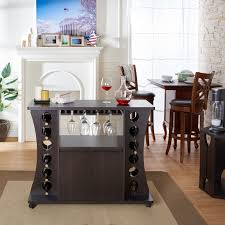 buffet table wine rack dining server storage space saving prev