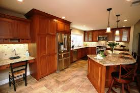 diy pendant lamp primitive islands natural cherry kitchen cabinets brown lacquered wood kitchen cabinet yellow kitchen