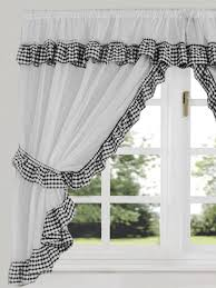 Black White Kitchen Curtains