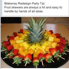 Decorated Fruit Trays Fruit skewers Healthy party snack Salads Pinterest Healthy 43