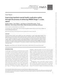 Pdf Improving Inpatient Mental Health Medication Safety