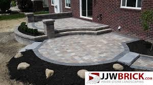 raised brick paver patio design