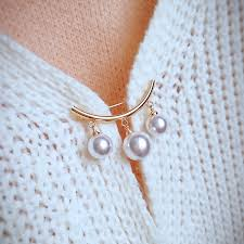 KingDeng Mermaid Pin Korean Simple Pearl <b>Cute</b> Brooch Women's ...