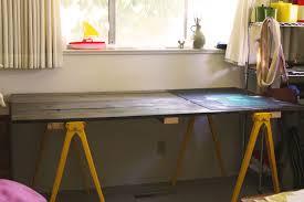 diy sawhorse desk and sawhorse desk pottery barn