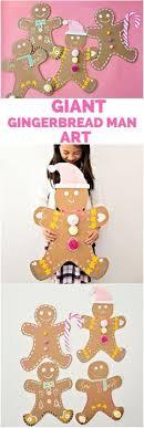 giant cardboard gingerbread man art kidsart crafts craftsforkids