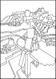 Minecraft Coloring Pages Mutant Enderman Coloring Pages Sword