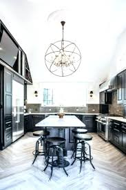 transitional crystal chandelier chandeliers white kitchen black with counter stainless steel