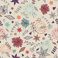 cute flower pattern wallpaper. Contemporary Wallpaper Vector Cute Seamless Floral Pattern With Flowers Leaves Hearts Can Be  Used For Scrapbooking Wallpapers Fills Web Page Backgrounds  Inside Cute Flower Pattern Wallpaper L