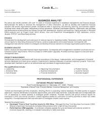 Sample Resume For Experienced Business Analyst