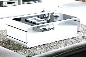 high gloss white coffee tables table vista with drawers