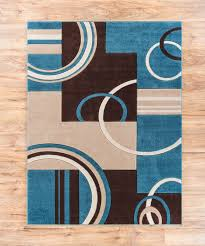 blue brown area rug echo shapes circles blue brown geometric area rug