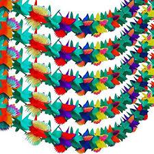 Paper Flower Backdrop Garland Amazon Com Resinta 5 Pack 10 Feet Multicolored Hawaii Tropical