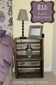 15 two wooden boxes shaping a rustic nightstand