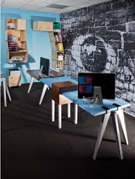 modular desks home office. modular desks home office cool idea with rectangular brown and blue desk