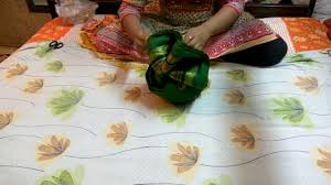 Saree Tray Decoration How to make Pagdi using a sareeWedding Tray Decorationwedding 42