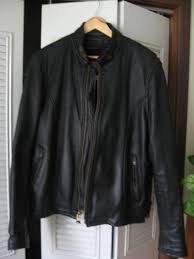 branded garments size 44 leather motorcycle jacket cafe racer made in usa