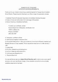 Valid Sample Resume For Substitute Teacher With No Experience Onda