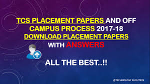 tcs placement papers test pattern pdf answers tcs placement papers and online test pattern 2017 18 pdf