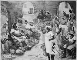 this painting old charleston market was painted by harlem renaissance artist ellis wilson in 1948 wilson portrayed the history of slave markets