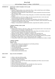 Sample Resume For All Types Of Jobs Cabinet Maker Resume Samples Velvet Jobs 18