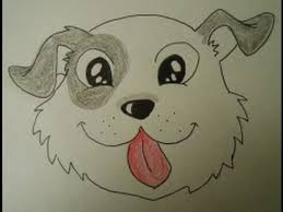 Small Picture How to Draw a Cute Puppy Face Easy step by step drawing for kids