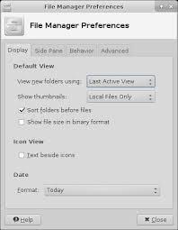 xfce:thunar:preferences [Xfce Docs]