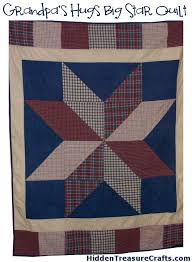 lap quilt | Hidden Treasure Crafts and Quilting & Grandpas-hugs-big-star-quilt-pattern Adamdwight.com