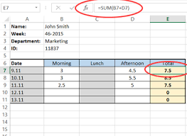 How To Create A Simple Excel Timesheet