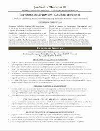 Sample Fire Resume 24 Fresh Emt Resume Examples Résumé For Job Emt Resume Examples 12