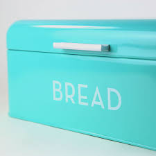 Turquoise Bread Box Impressive Now Designs Vintage Bread Bin Turquoise Breadtopia