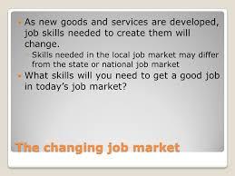good job skills personal skills and the job market ppt download