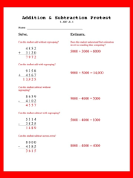 Grab this free pretest to assess 4.NBT.B.4: adding without ...