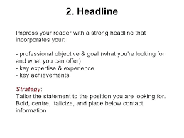 Resume Headline Awesome 4210 How To Write A Resume Headline Good Titles For Resumes Good Resume