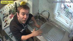 HOW TO REMOVE  INSTALL KITCHEN SINK Plumbing Tips YouTube - Installing a kitchen sink