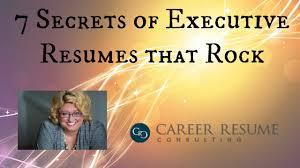 Executive Resume Writing Tips Resume Tips 7 Characteristics Of A Great Executive Resume Or Cv
