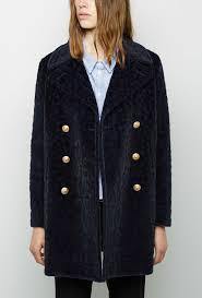band of outsiders flurry leopard pea coat