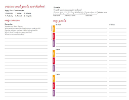 Vision and goals worksheet. Ready, set, goal! - This is the goal ...