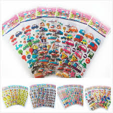 <b>10pcs</b>/lot mix color letter smile car animal zoo <b>3D foam</b> stickers party ...