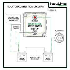 keyline chargers 12v 140 amp dual battery isolator & atv utv wiring 12 Volt Isolator Wiring-Diagram keyline chargers 12v 140 amp dual battery isolator & atv utv wiring kit