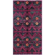 safavieh monaco adel pink indoor throw rug common 2 x 4 actual