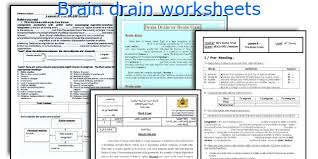 english teaching worksheets brain drain