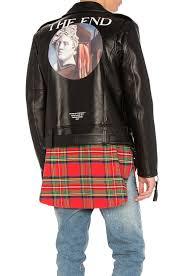 off white carryover de chirico biker jacket black men off white bath accessories
