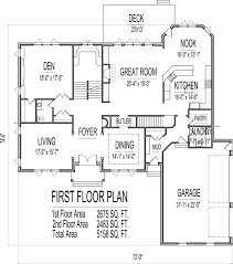 Small Picture 5 Bedroom 2 Story 5000 Sq Ft House Floor Plans Stone and Brick